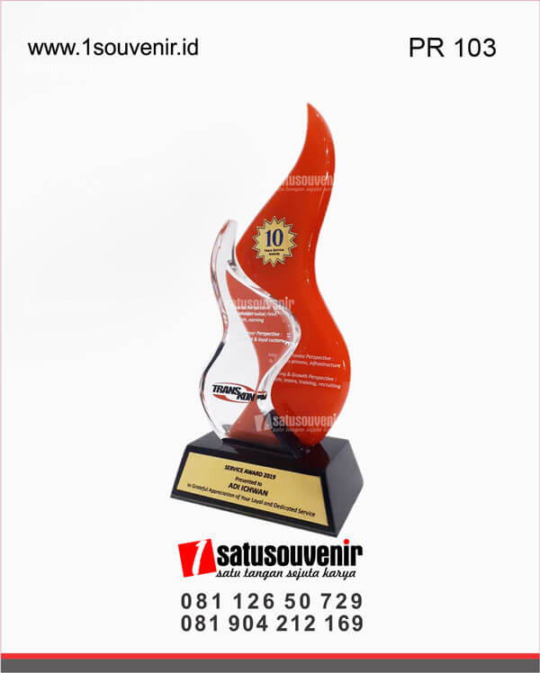 desain plakat resin transkom service award 2019