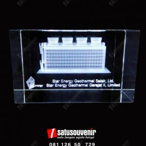 Plakat Kristal 3D Cooling Tower Chevron Star Energy