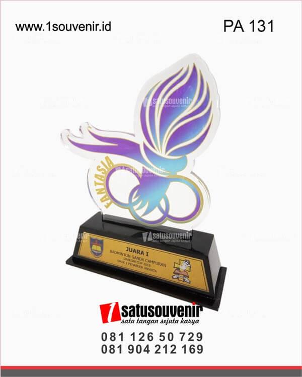 PA131 Plakat Akrilik Juara Badminton Ganda Campuran SMAKONECUP 2019 Jakarta