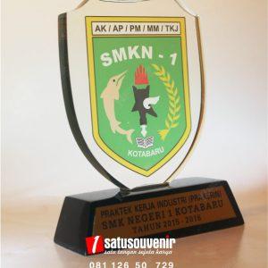 Plakat Akrilik SMK N 1 Kotabaru