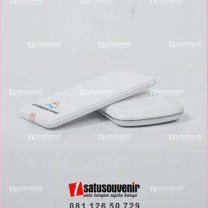 Powerbank Promosi Custom Putih