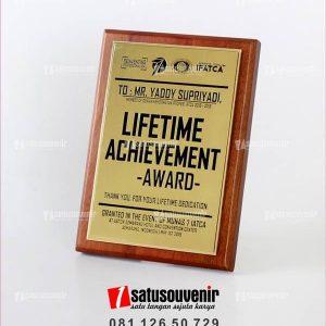 PK105 Plakat Kayu Lifetime Achievement Award IFACTA