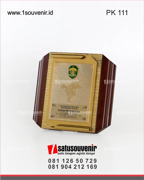 PK111 Plakat Kayu Dinas Perkebunan Pemerintah Provinsi Kalimantan Timur