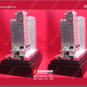 Souvenir Miniatur Gedung Apartemen